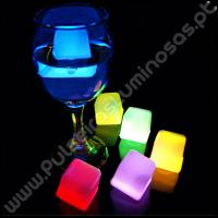 Cubos de Gelo Luminosos Fluorescentes (24 uds)