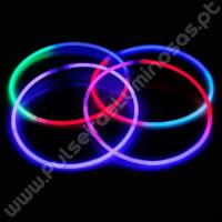 Colares Fluorescentes Tricolores (50 uds)
