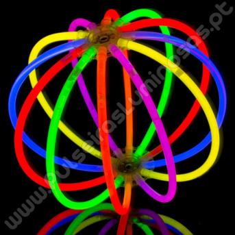 Bolas Fluorescentes Unicolor (8 uds)