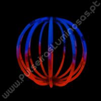 Bolas Fluorescentes Bicolor (8 uds)