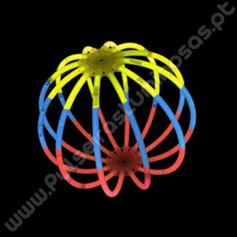 Bolas Fluorescentes Tricolores (8 uds)
