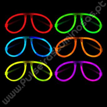Óculos Fluorescentes Aviador Granel (50 uds)